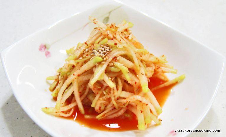 Best Authentic Seasoned Radish Recipe, Musengchae | Korean Side Dish (Ban Chan) Recipe