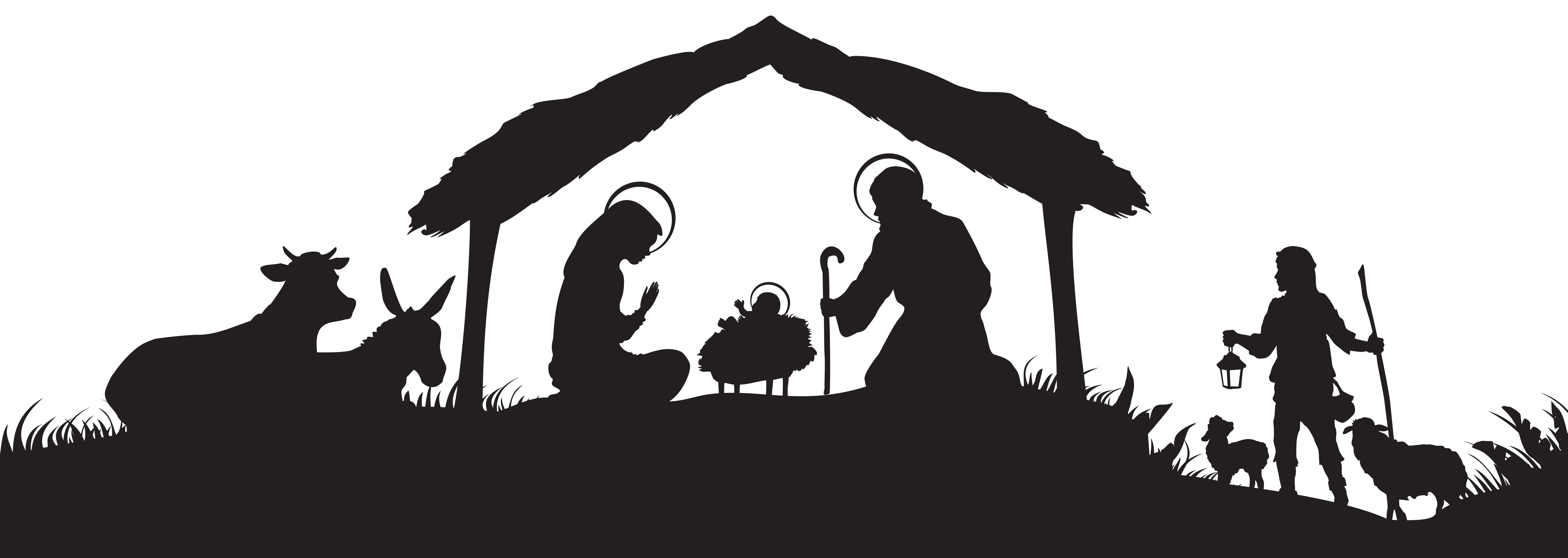free christmas nativity clipart 18 [ 8000 x 2846 Pixel ]
