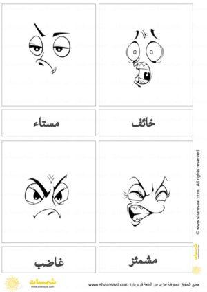 بطاقات المشاعر الاساسية 3 Emotional Intelligence Emotions Feelings