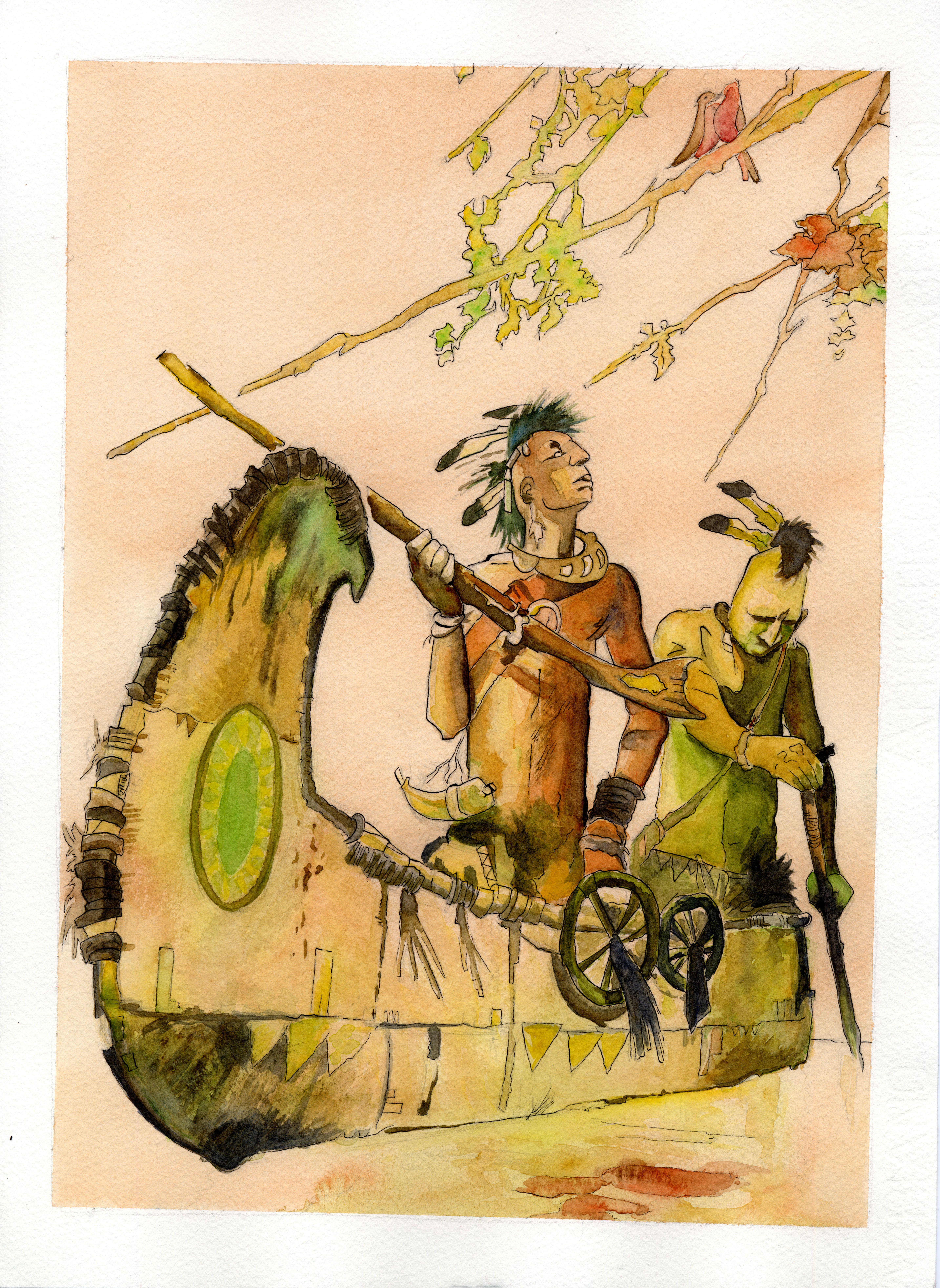 natives hugo pratt reproduction watercolorartnativeamericanwild - Native American Pictures Color