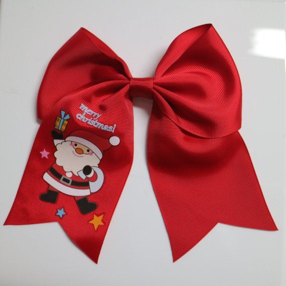 470ddc968498 Merry Christmas Santa Claus Cute Big Bow Kids Hairbow, Tacky Christmas Bow, Santa  Claus - Christmas Gift - Ugly Christmas Party