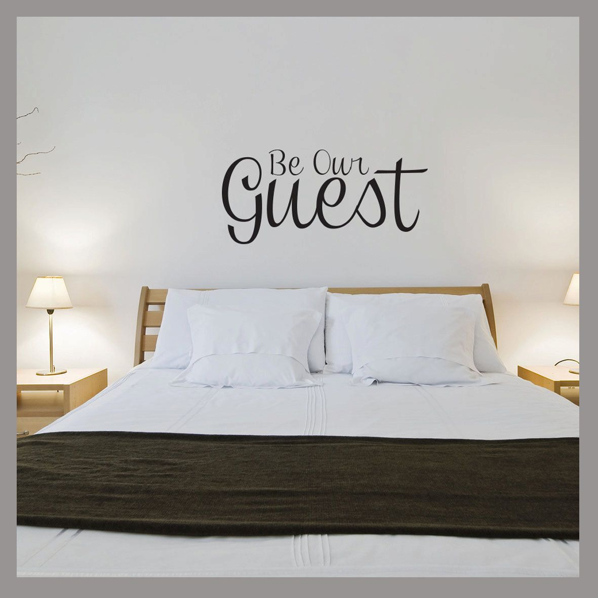 Be Our Guest Removable Wall Decal Sticker 19 95 Via Etsy Wall Stickers Bedroom Bedroom Wall Home