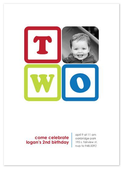 birthday party invitations - Building Blocks by Rebecca Thongkham