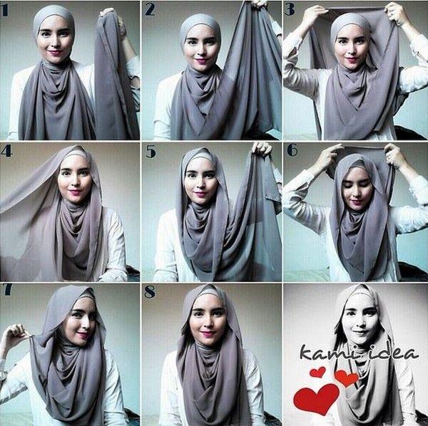 10 طرق لف الحجاب بالصور والخطوات Kudung Gaya Hijab Kerudung