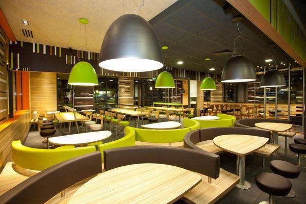 Mcdonalds Interior Design beispiel vösendorf: das mcdonald's-restaurant in steyr wird im