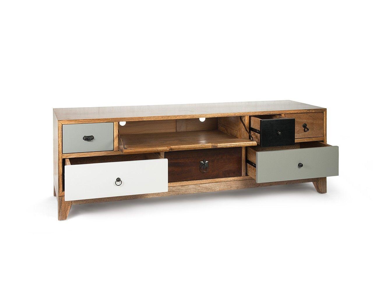 artisan tv unit mango wood television stand