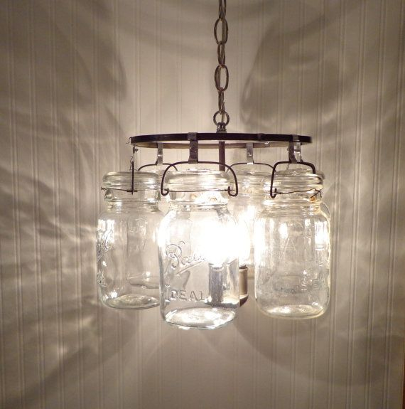 Mason jar chandelier ring of hanging quarts mason jar chandelier mason jar chandelier ring of hanging quarts by lampgoods on etsy aloadofball Choice Image