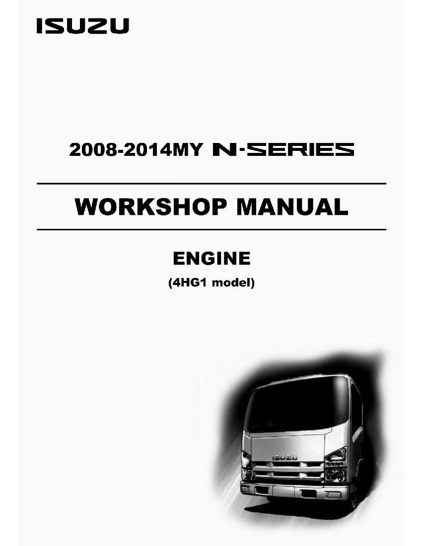 Isuzu Engine 4hg1 Model Workshop Repair Service Manual Pdf