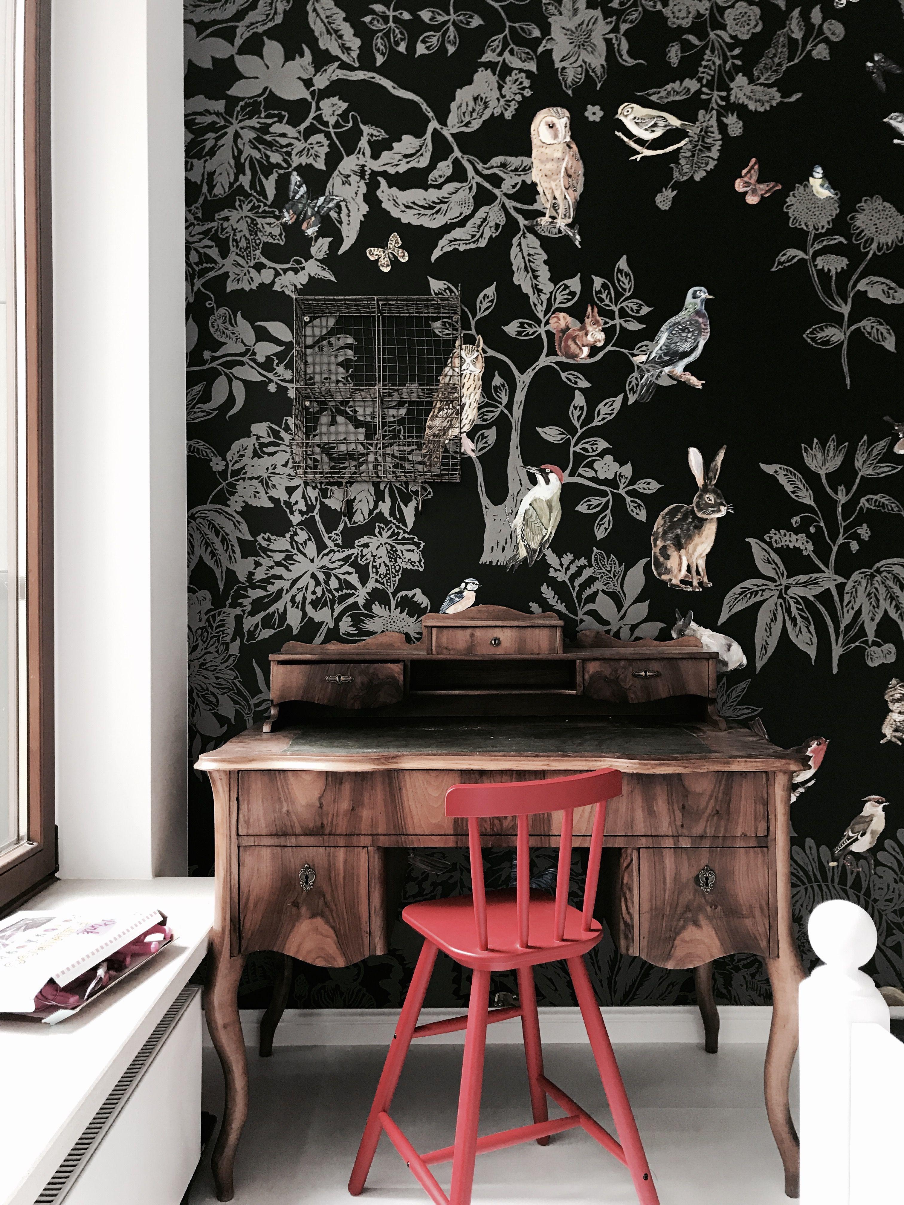 Nathalie Lete Wallpaper Foret Noire Domestic Cool Wallpaper Lovely Things Murals Kids Room