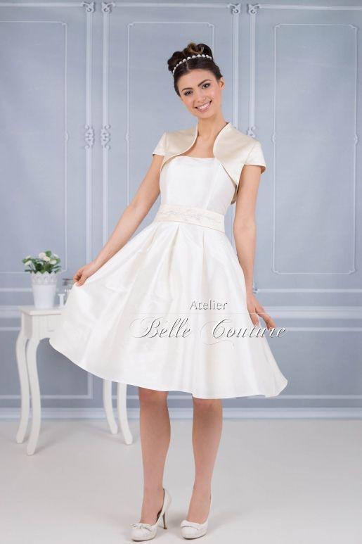Atelier Belle Couture   50er Jahre Brautkleid mit Kellerfalten ...