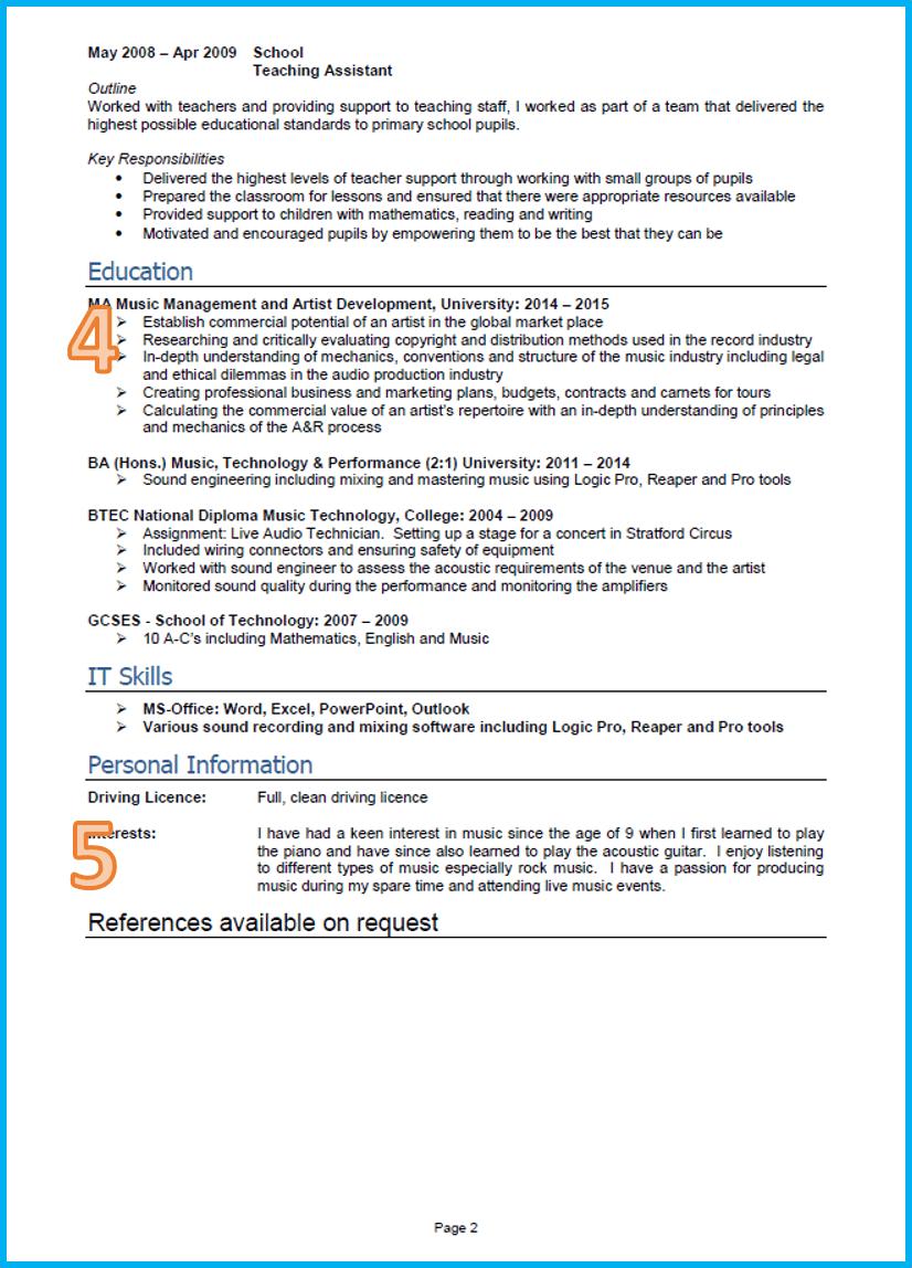 Graduate CV 2 Good cv, Professional resume writing