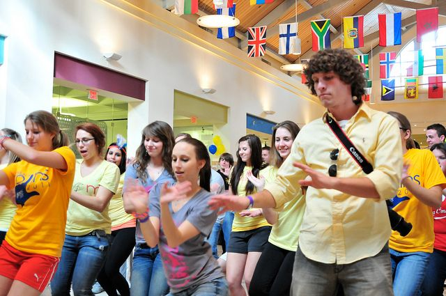 More than 140 Rollins students stayed awake and on their feet for 12.5 hours (in honor of the College's 125th anniversary) to raise money for kids in need of medical treatment. Participating in Miracle@Rollins, a dance marathon benefiting Children's Miracle Network, these students enjoyed a day of dancing, music, games, food and entertainment while raising funds for kids treated at local Children's Miracle Network hospitals.