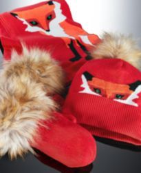 59afa0fb3 kate spade new york Crazy Like a Fox Scarf, Hat and Mitten Gift Set ...