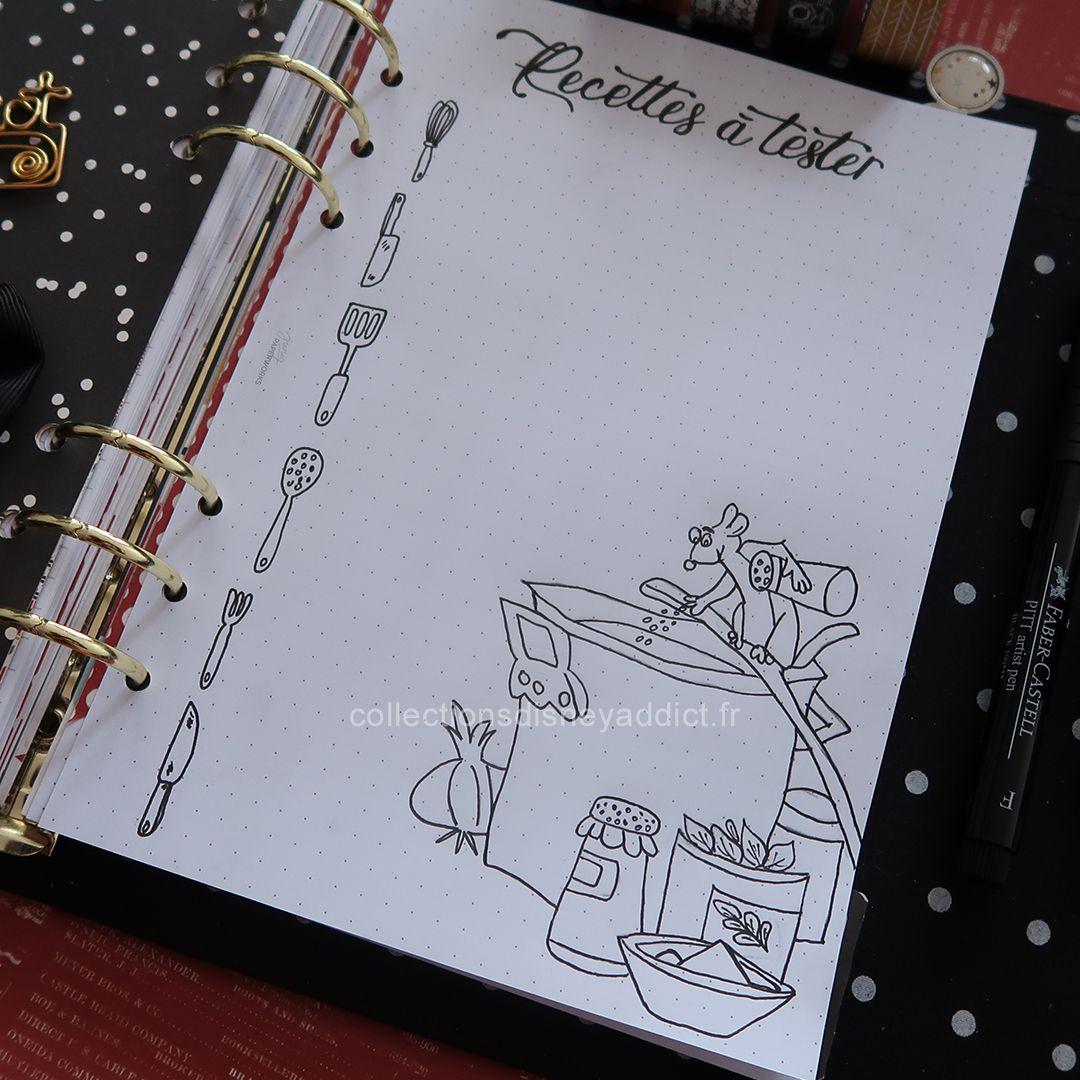 Planner Disney Facon Bullet Journal Journaling Bullet