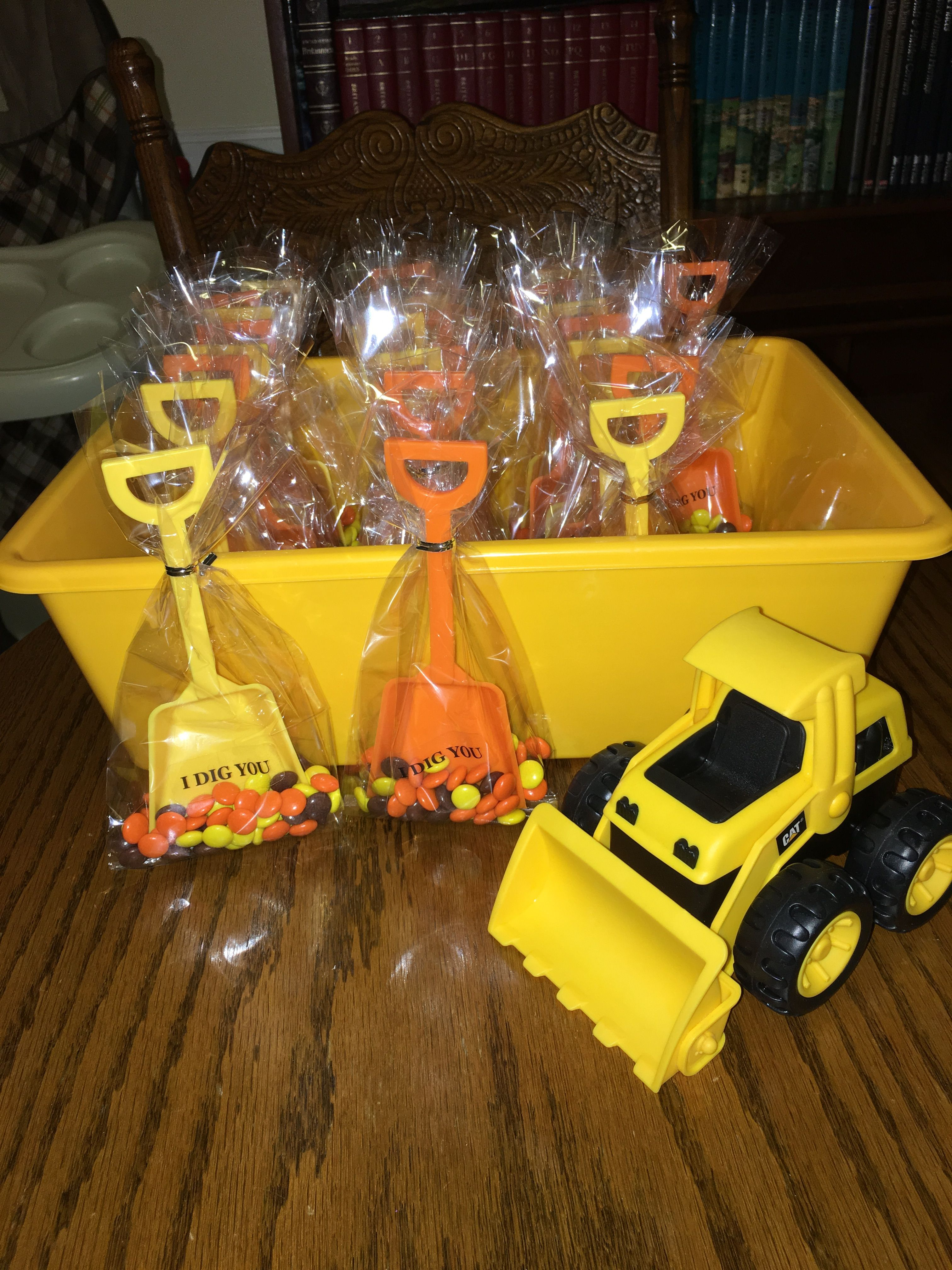 Construction party favors 2nd birthday party themes