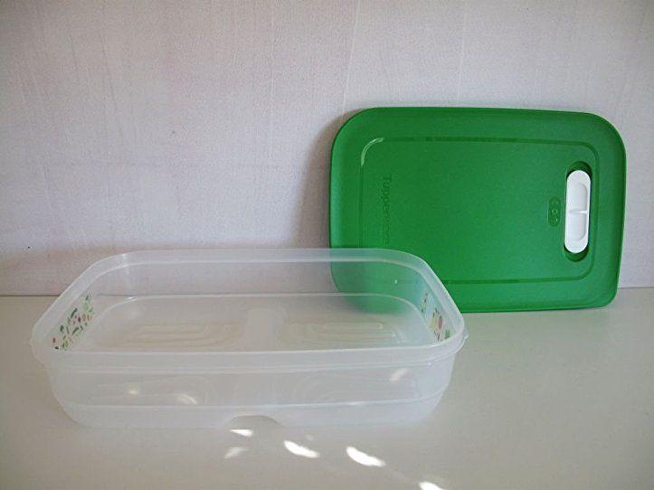 TUPPERWARE Kühlschrank 1,8 L dunkelgrün KlimaOase flach PrimaKlima ...