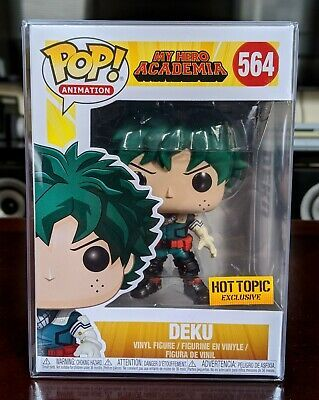 Funko Pop My Hero Academia MHA Deku Hot Topic Exclusive w Protector