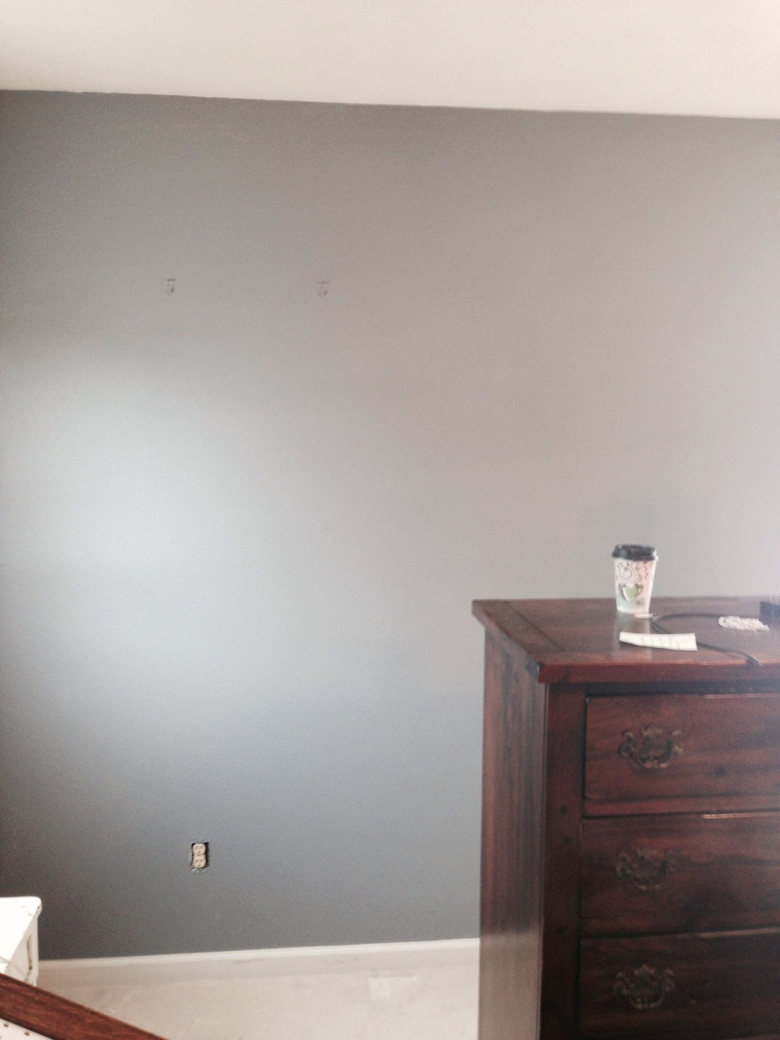 Smoky charcoal by Glidden at Home Depot with primer included