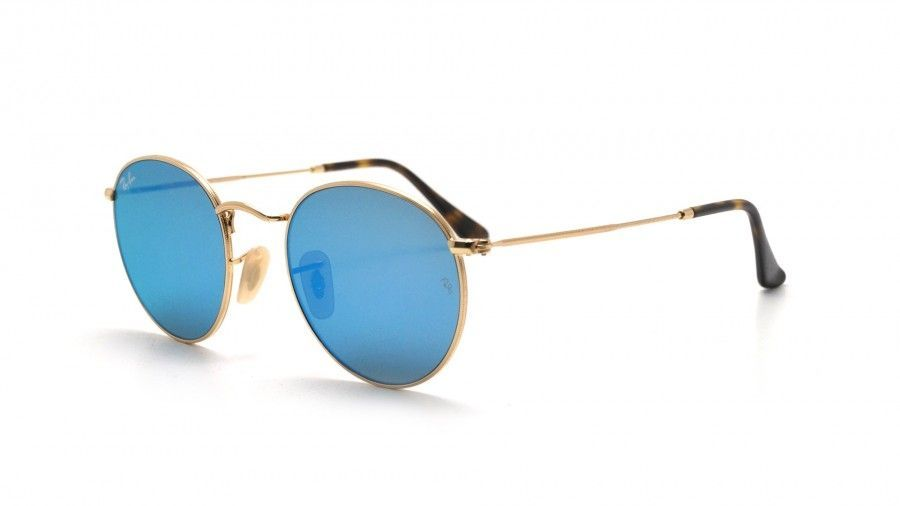 2e51f561611 Ray Ban Round Metal RB3447N 00190 Light Blue Gradient Flash Sunglasses ( 51 -21-145)