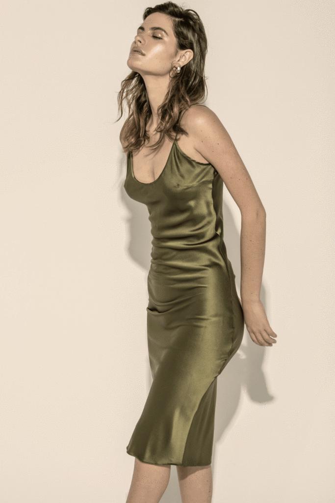 5254eb2f02 Calla Silk Slip Dress