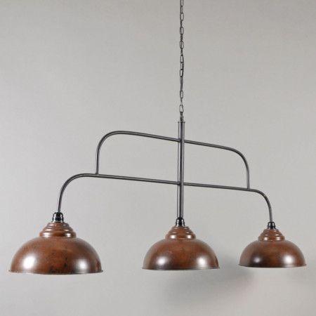 Hanglamp Biljart 3 bruin (ALLEEN AF TE HALEN ...