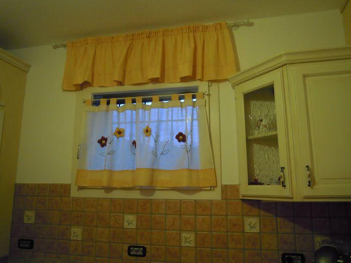 Tende country tende patchwork curtains curtains e valance curtains - Mantovane per tende da cucina ...