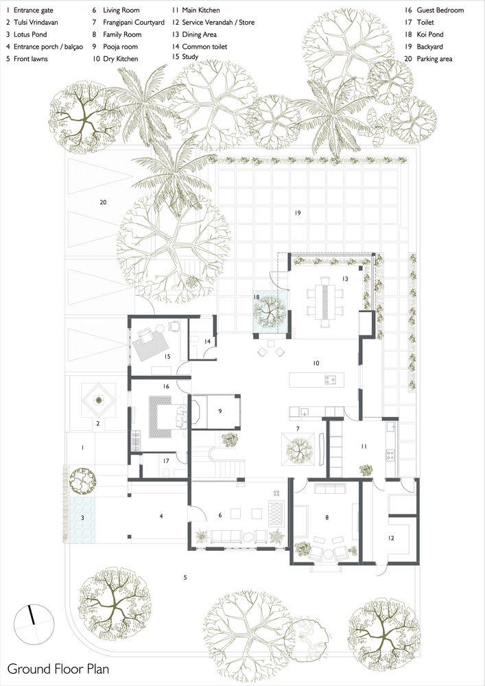 Gallery Of House In Goa Ankit Prabhudessai 23 Ground Floor Plan Floor Plans Goa