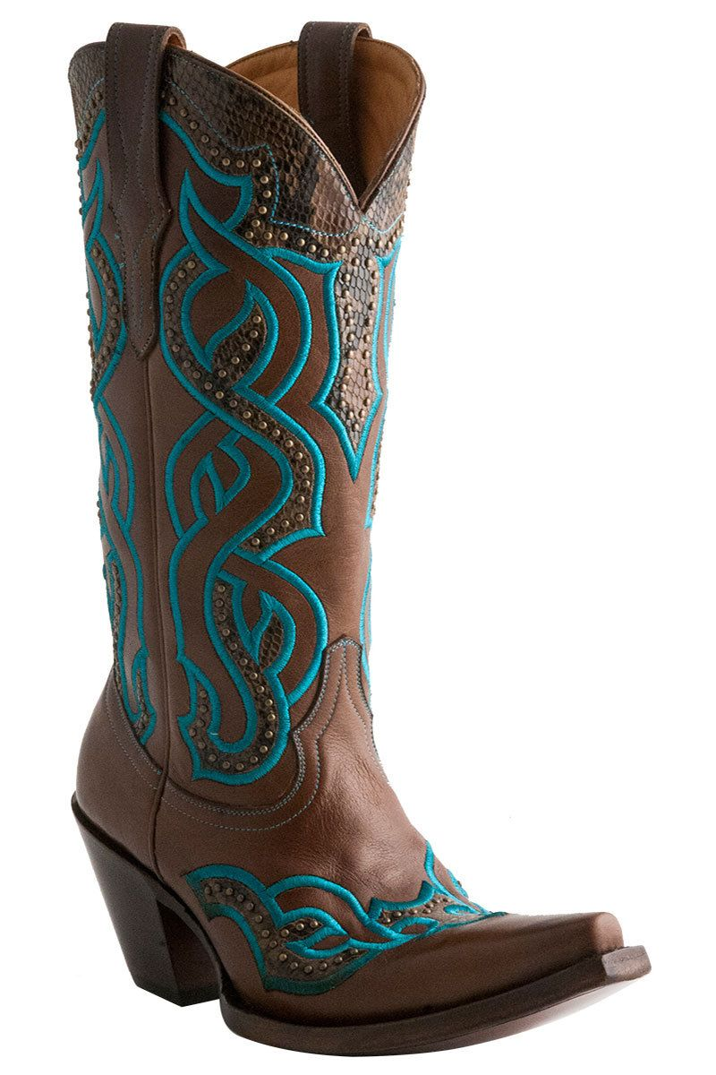 ffce189a36a Lucchese Caledonia Women's Brown Cowgirl Boots - HeadWest Outfitters ...