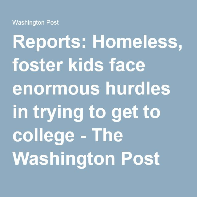 Reports Homeless, foster kids face enormous hurdles in trying to - sample training evaluation form