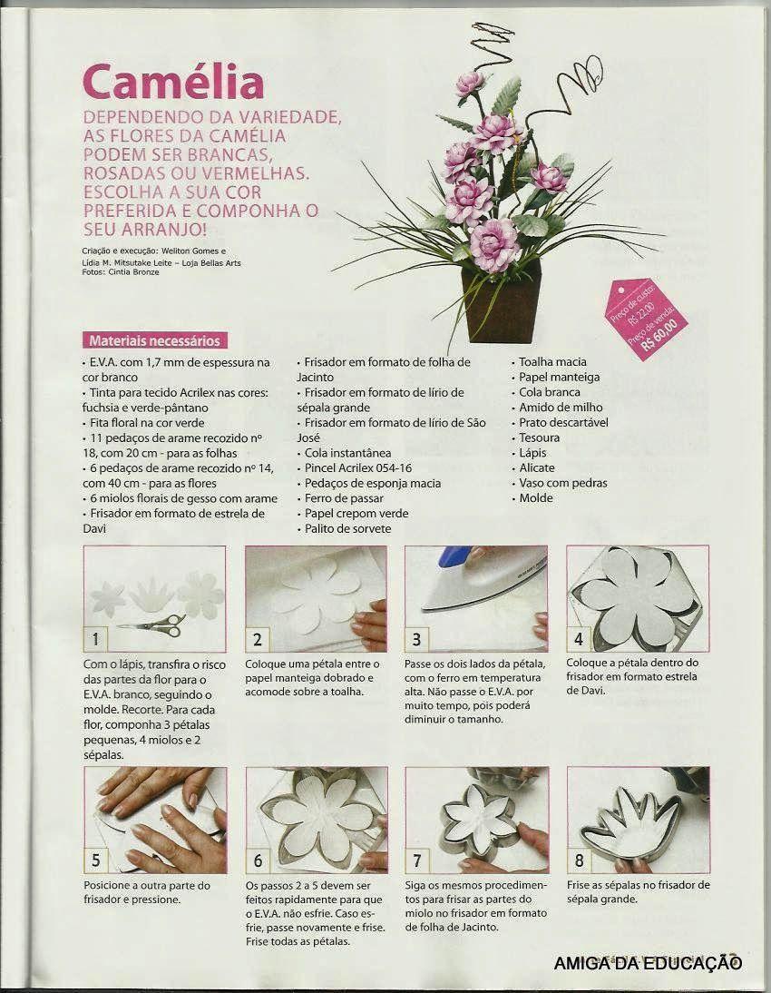 Revista Arte Facil Eva N 8 Flores Flores Em Eva Flor De Papel