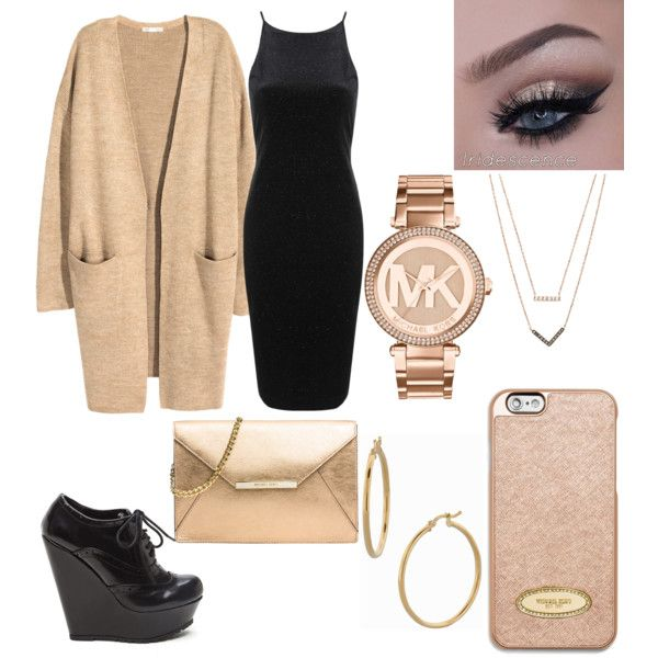 On Polyvore created by @zariaaclark  A fashion look from November 2015 featuring Topshop dresses, H&M cardigans and MICHAEL Michael Kors clutches. Browse and shop related looks.