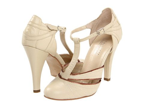 Wedding Shoes Gorgeous Vintage Style T Straps In A Lovely Cream Color Lumiani Fallon Nude
