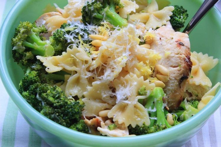 Lemon Chicken With Broccoli Bow Ties Recipe Ina