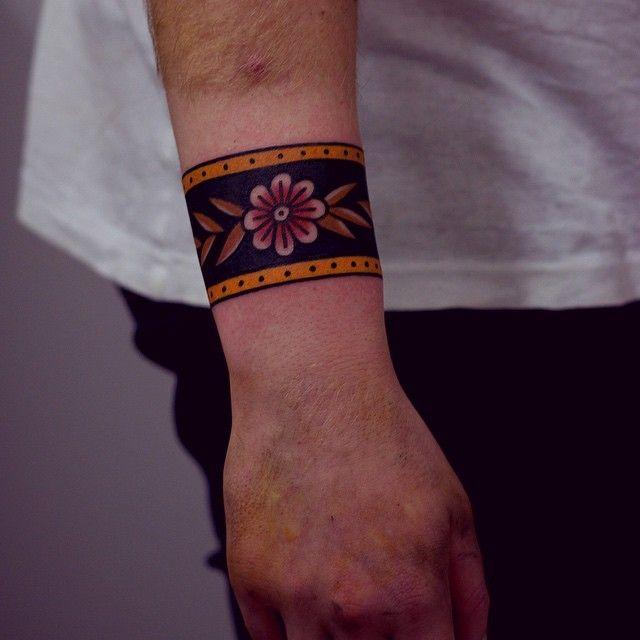 Ornamental Bracelet Tattoo On The Left Wrist Tattoo: Websta (Webstagram)