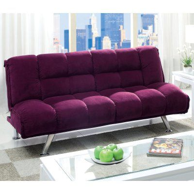 Furniture Of America Delisle Futon Sofa Purple Idf 2908pr Futon Sofa Purple Sofa Furniture