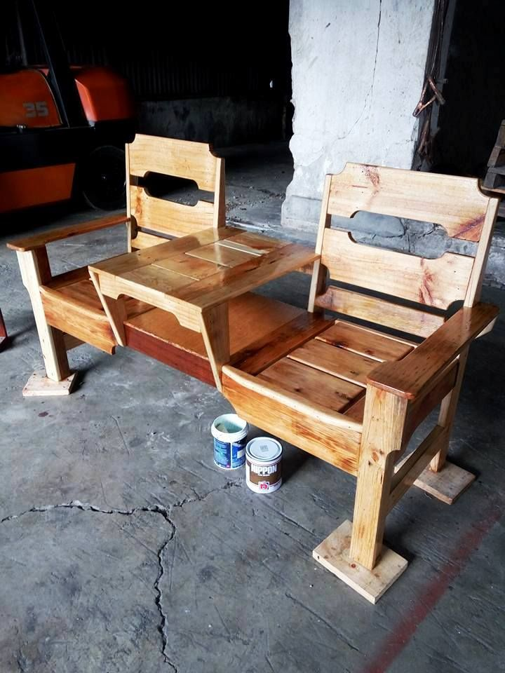 Fine Wooden Double Chair Pallet Bench Pallets Pallet Ncnpc Chair Design For Home Ncnpcorg