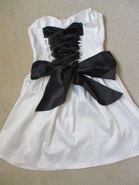 corset back dress reconstruction  corset back dress diy