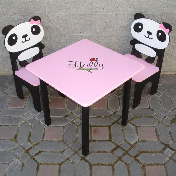 Terrific Panda Little Girls Table And Panda Chair Set 240 00 Via Gmtry Best Dining Table And Chair Ideas Images Gmtryco