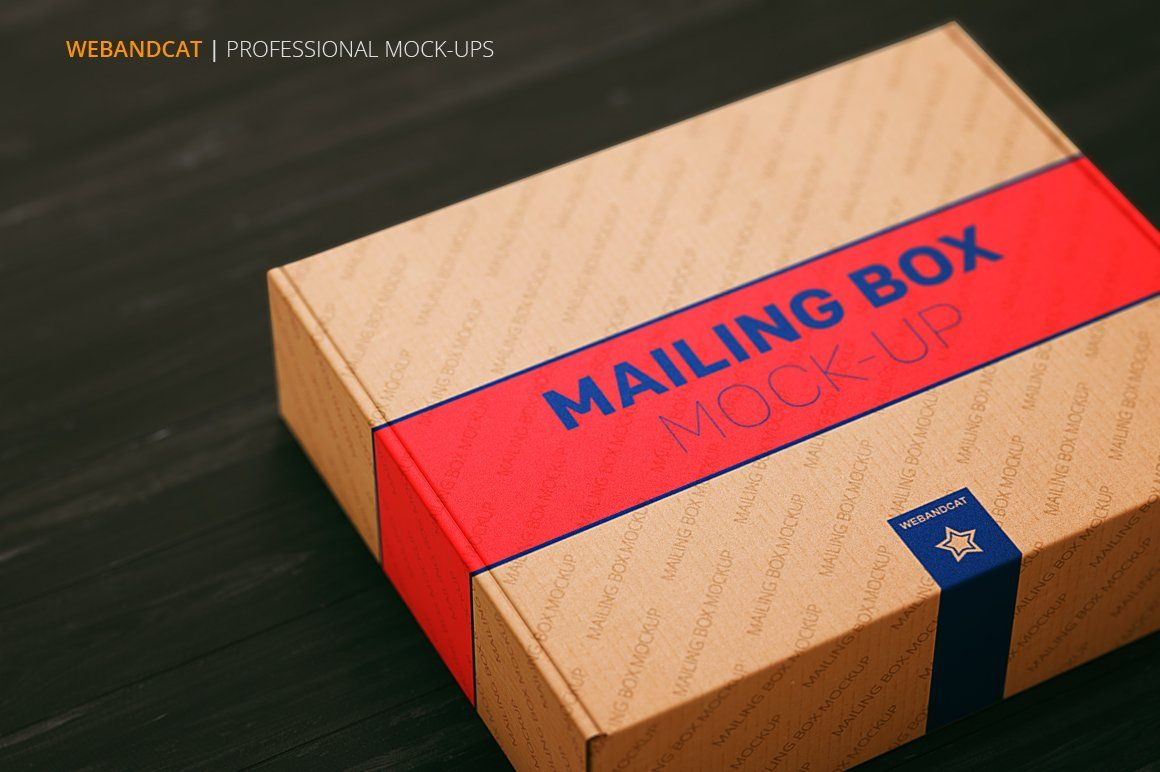 Download Shipping Mailing Box Mock Up Mockup Template Free Business Cards Simple Marketing Template