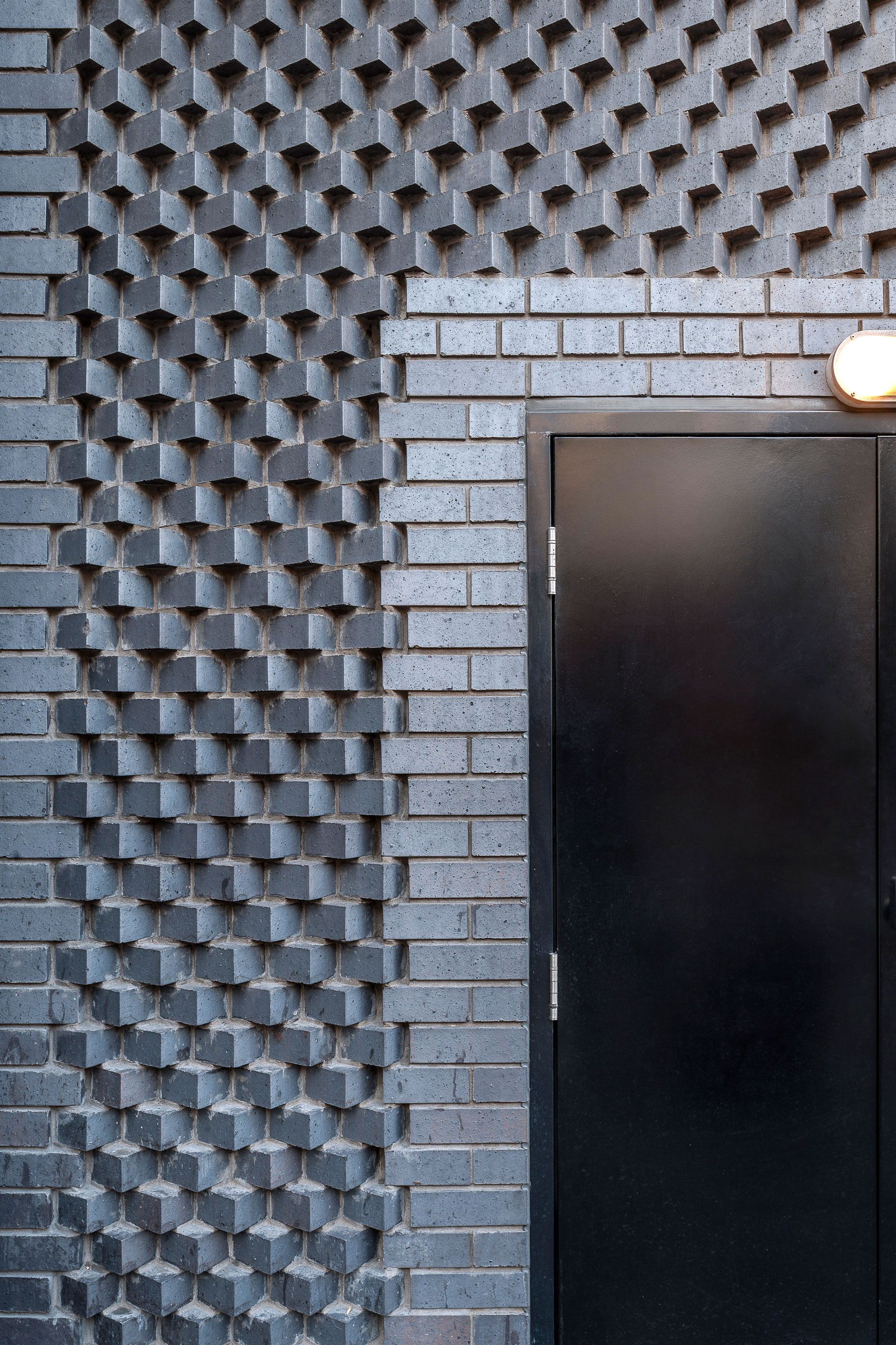 decorative brickwork on the ace hotel in londons shoreditch area england photo by andrew meredith tina hillier via universaldesignstudio - Brick Hotel Decoration