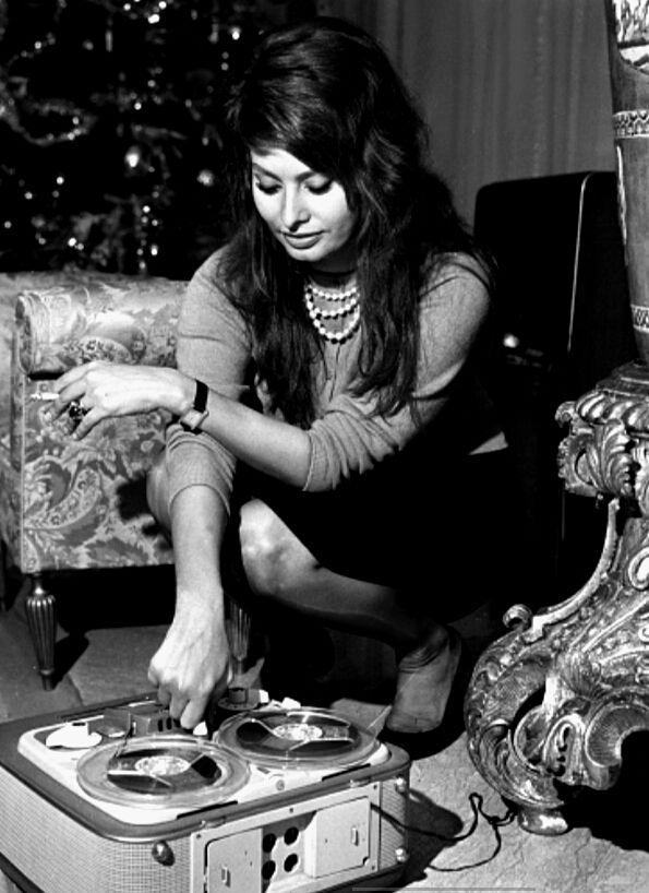 Sophia Loren at home