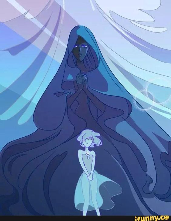 Steven universe fan art diamante blu steven universe perlas and