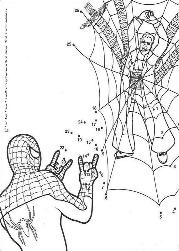 Spiderman Dot To Dot Spiderman Coloring Coloring Pages
