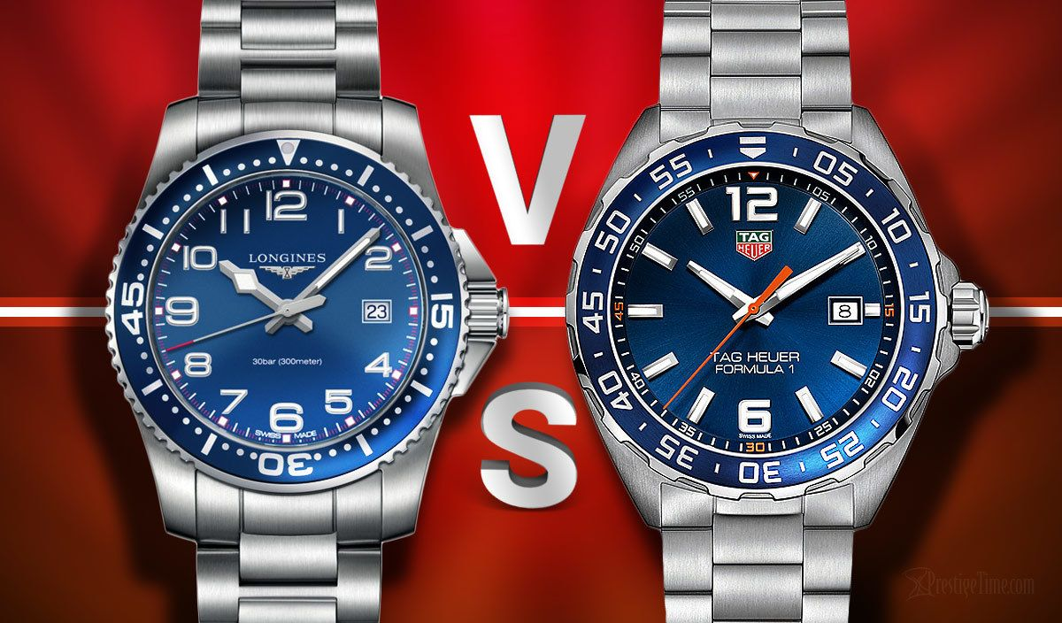 Longines Hydroconquest VS TAG Heuer Formula 1   Luxury ...