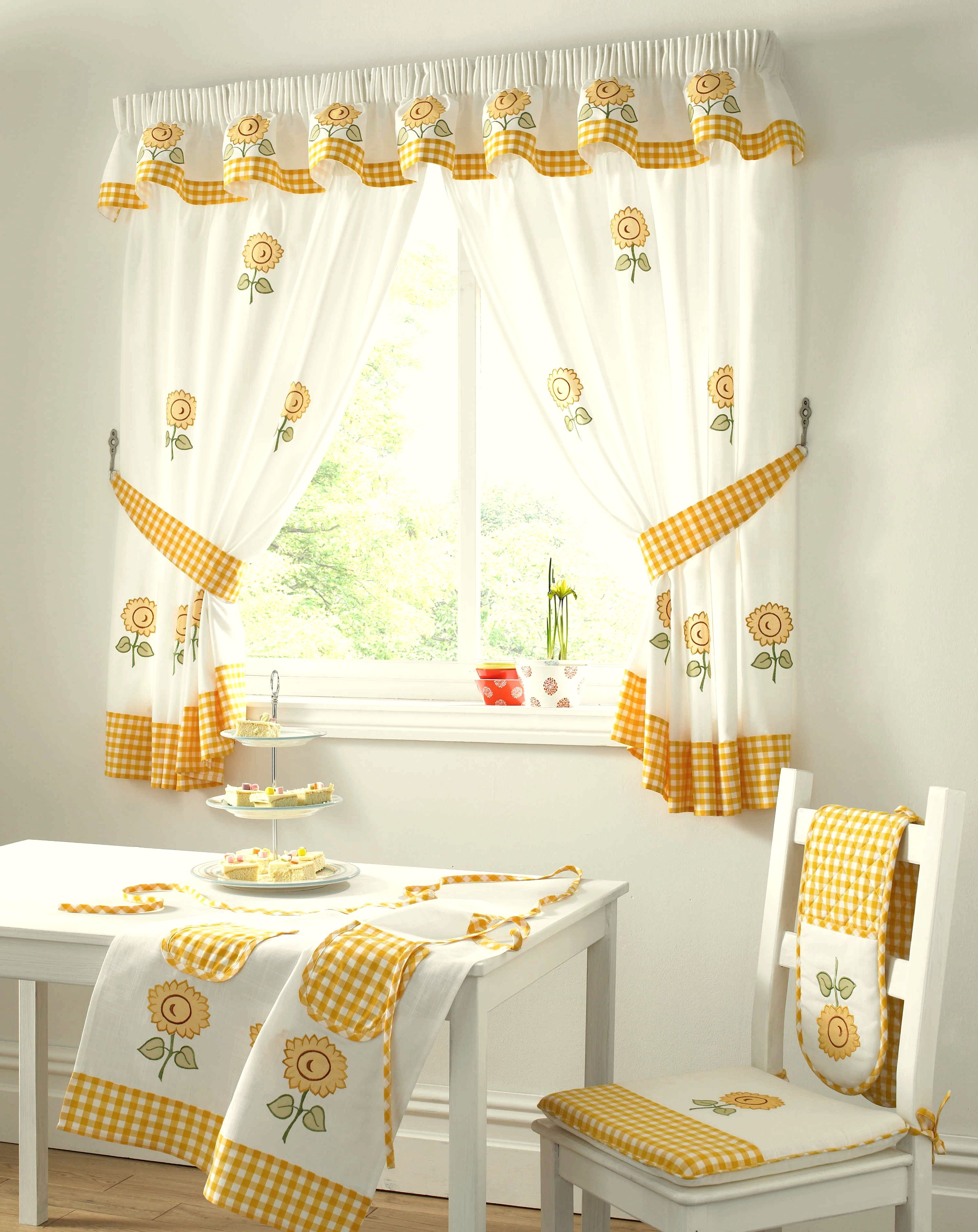 Yellow Gingham Kitchen Curtains Cortinas De Cocina Cortinas Pinterest Curtain Ideas