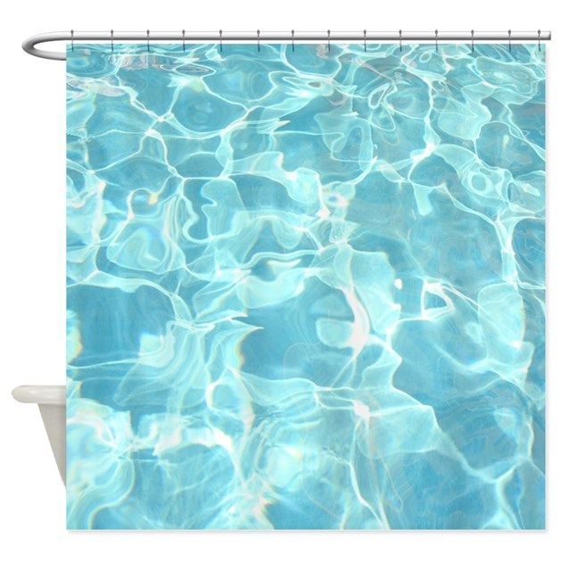 Pool Water Shower Curtains From Beach Store Enhance Your Tropical Bathroom Decor Or Give