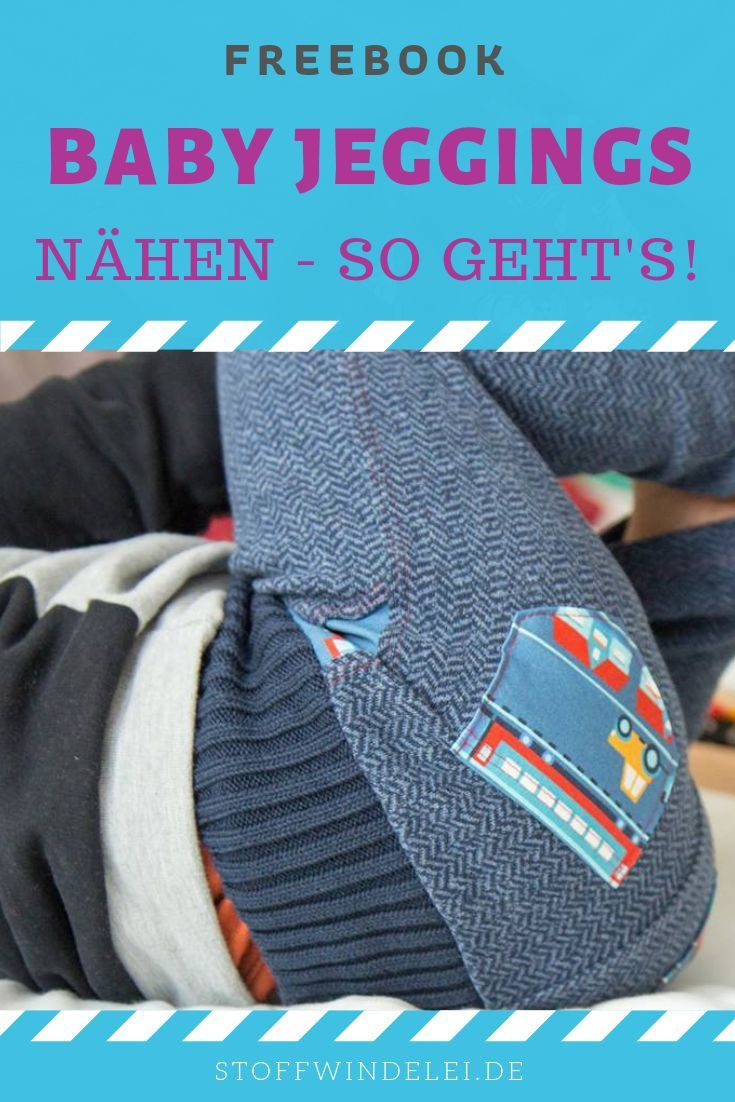 Baby-Wohlfühl-Jeans: kostenloses Schnittmuster & Nähanleitung Gr. 50-92 | Stoffwindelei.de