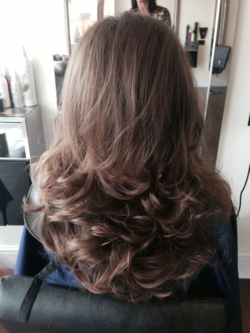 Another Pretty Bouncy Blow Dry At Eye Candy Today Curls For Long Hair Blow Dry Hair Hair Styles