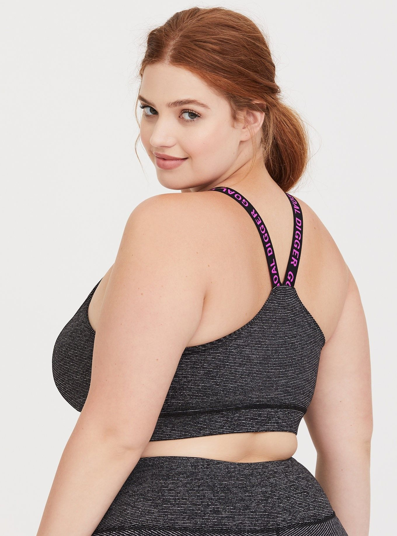 1aa13bede Space Dye Goal Digger Sports Bra - A space dye sports bra has  moisture-wicking capabilities and comfortable stretchy straps that make it  an effortless all ...