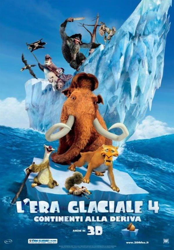 L'Era Glaciale 4: continenti alla deriva, dal 28 settembre al cinema.